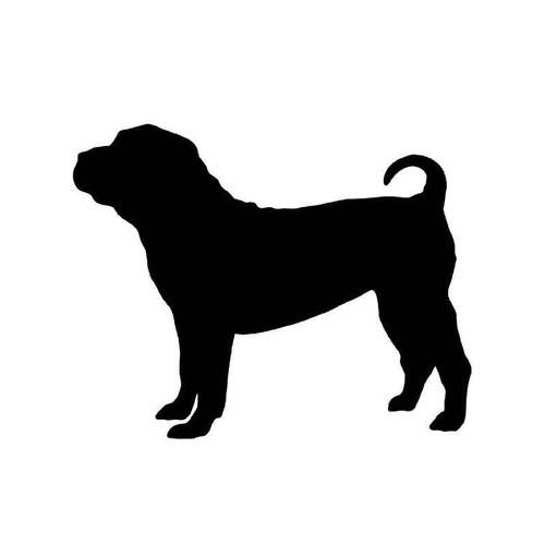 Shar Pei Dog 2 Vinyl Sticker