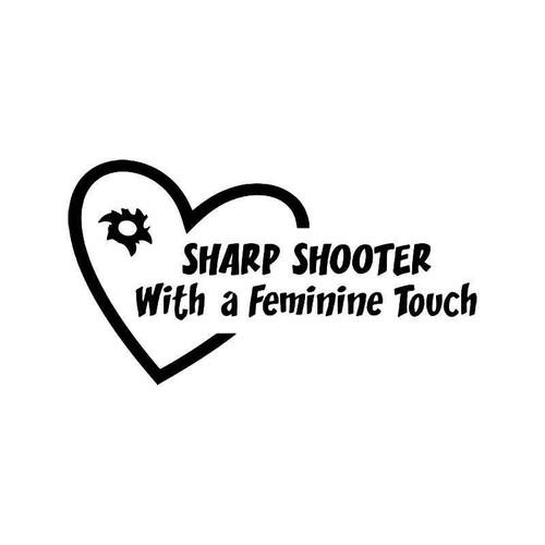 Sharp Shooter Girl Vinyl Sticker