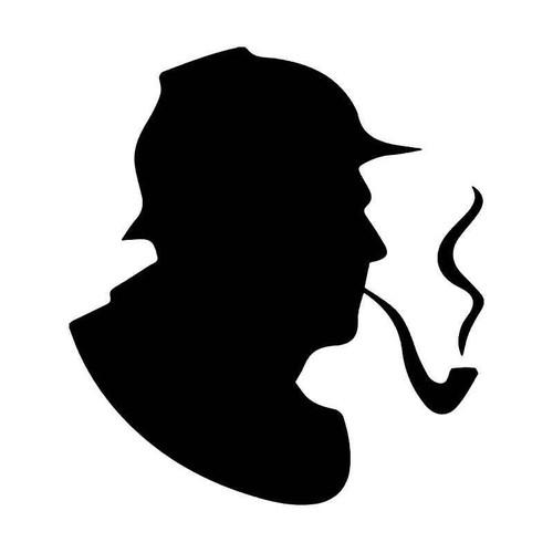 Sherlock Holmes Smoking Pipe Vinyl Sticker