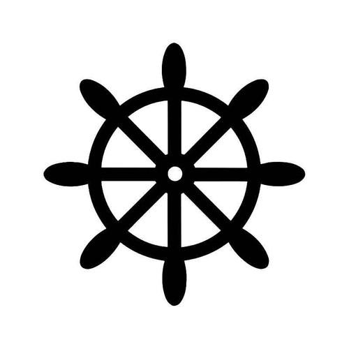 Ship Wheel 1 Vinyl Sticker