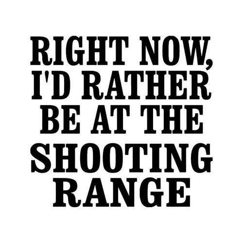 Shooting Range Gun Vinyl Sticker