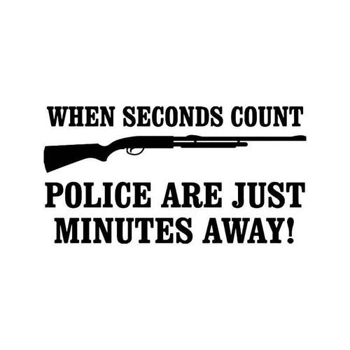 Shotgun Police Vinyl Sticker