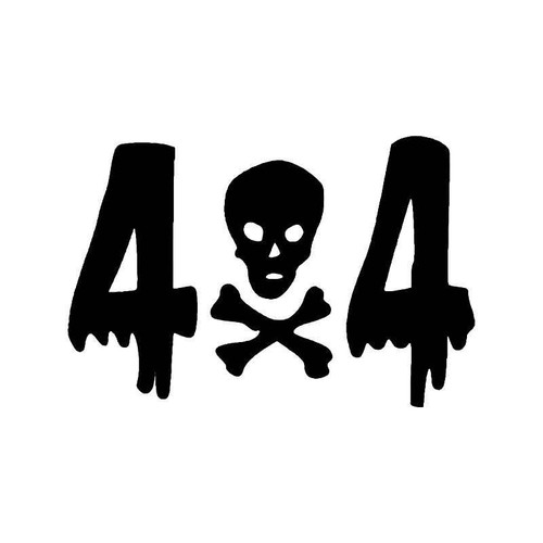 Skull Alligator 4x4 Off Road Vinyl Sticker