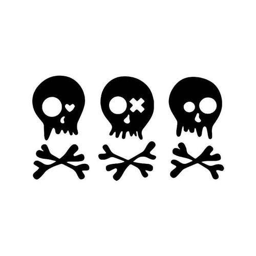 Skull Brothers Crossbones Vinyl Sticker
