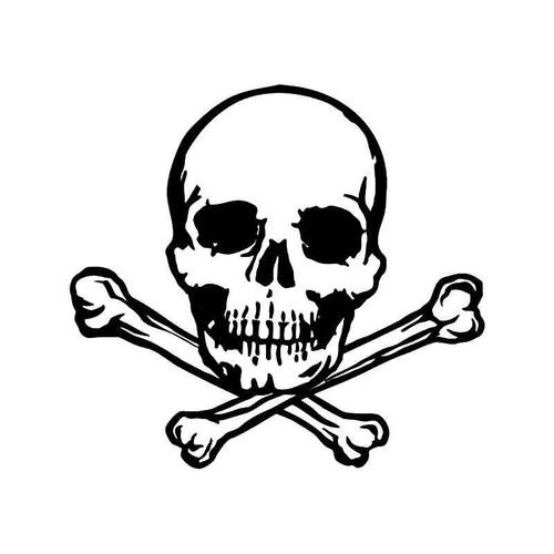 Skull Crossbones 7 Vinyl Sticker