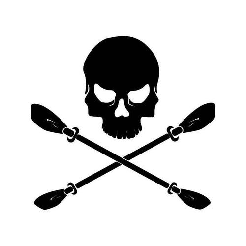 Skull Crossed Oars Vinyl Sticker