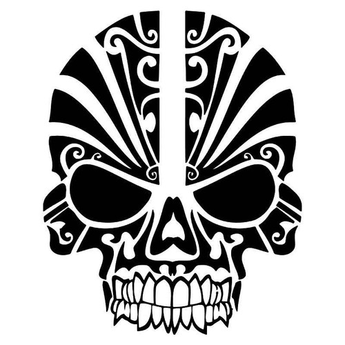 Skull Paint Mask 1 Vinyl Sticker