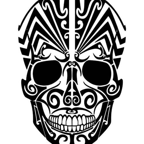 Skull Paint Mask 2 Vinyl Sticker