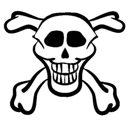 Skull 1258 Vinyl Sticker