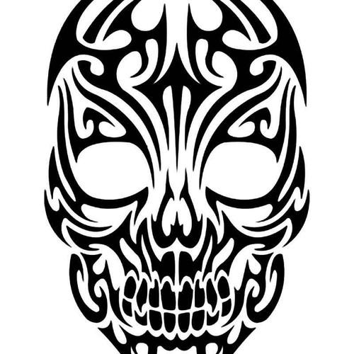 Skull Tribal Vinyl Sticker