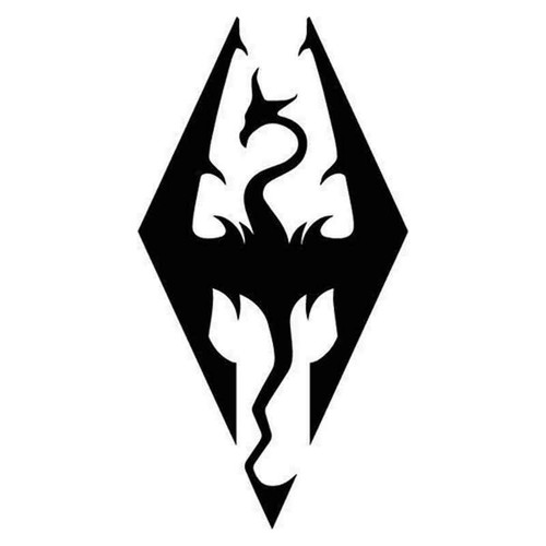 Skyrim Imperial Symbol 807 Vinyl Sticker