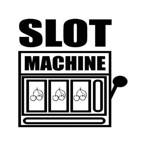 Slot Machine Addict Vinyl Sticker