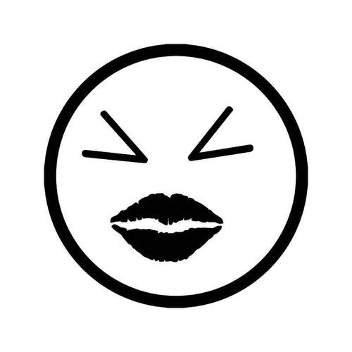 Smiley Happy Face Girl Kiss Jdm Japanese Vinyl Sticker
