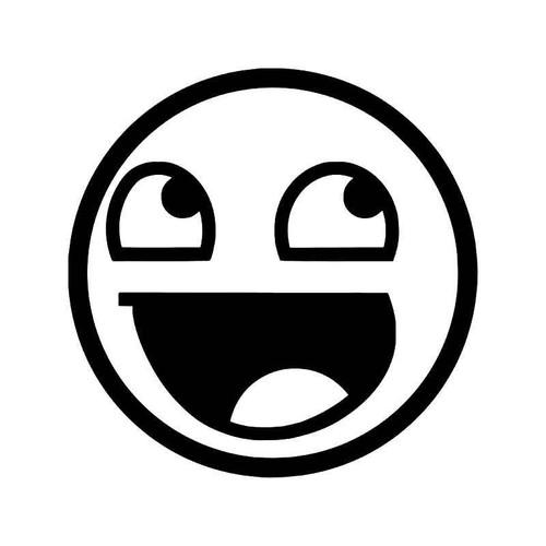 Smiley Happy Face Jdm Japanese 2 Vinyl Sticker