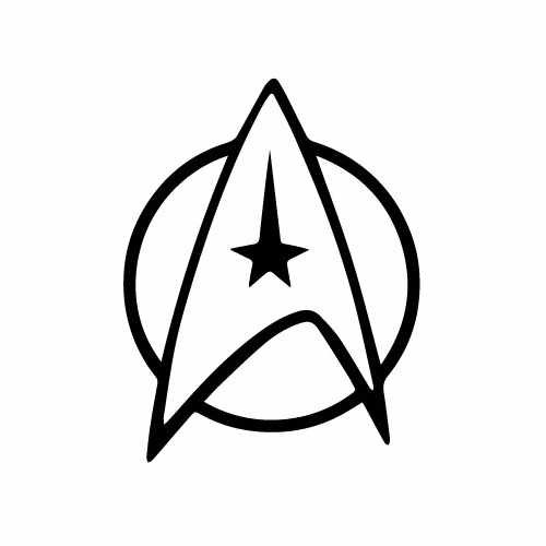 Star Trek Logo Vinyl Decal Sticker  Size option will determine the size from the longest side Industry standard high performance calendared vinyl film Cut from Oracle 651 2.5 mil Outdoor durability is 7 years Glossy surface finish