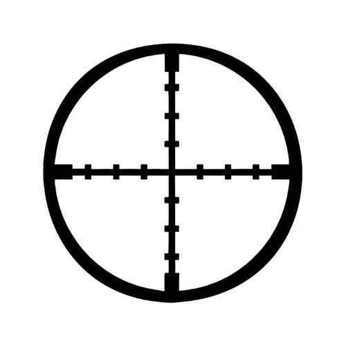 Sniper Crosshairs Rifle Military 1 Vinyl Sticker