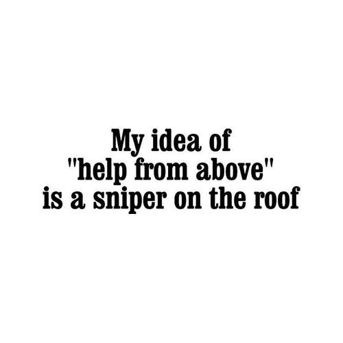 Sniper On Roof Vinyl Sticker