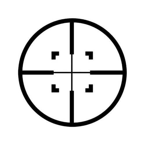 Sniper Scope Crosshairs Hunting 1 Vinyl Sticker