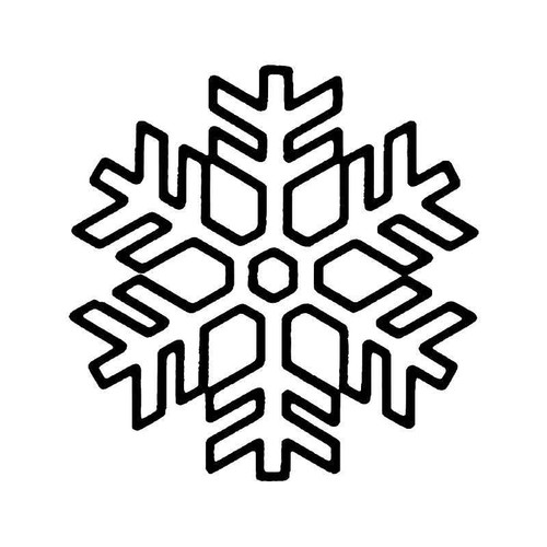 Snowflake Snow 5 Vinyl Sticker