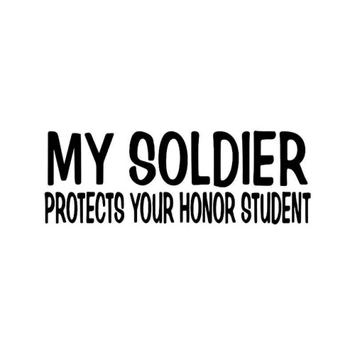 Solr Protects Honor Student Vinyl Sticker