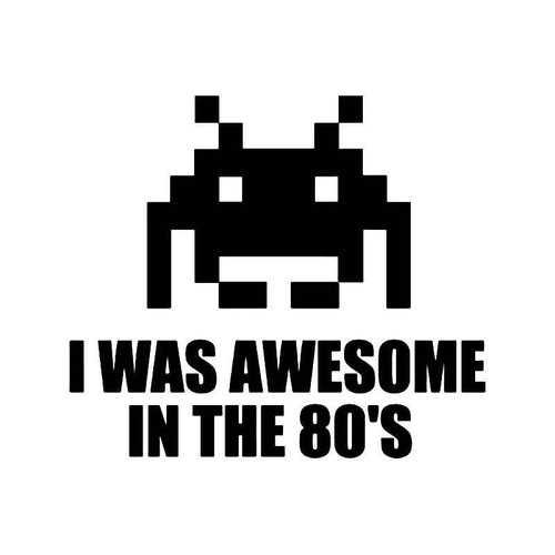 Space Invaders 80s Gaming Vinyl Sticker