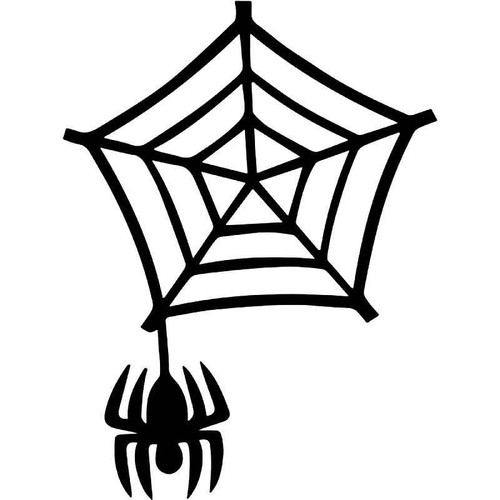 Spider Cobweb Vinyl Sticker
