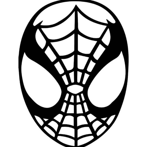 Spiderman Mask Vinyl Sticker