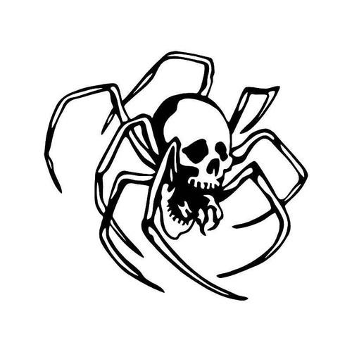 Spider Skull Vinyl Sticker