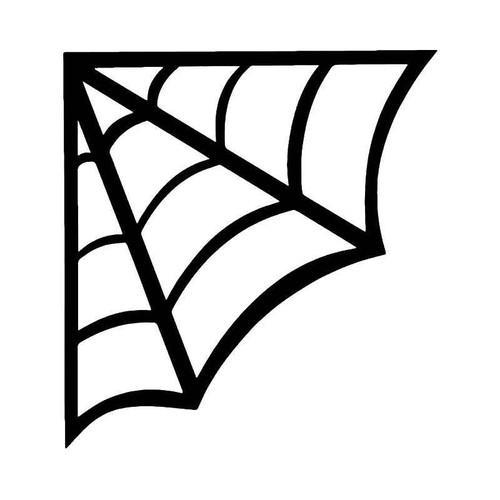 Spider Web Cobweb Halloween Vinyl Sticker
