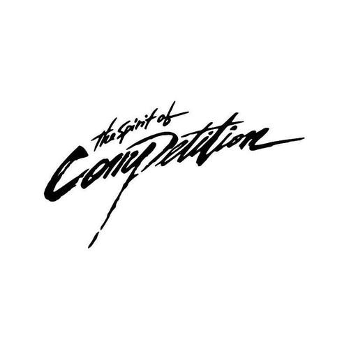 Spirit Of Competition Vinyl Sticker