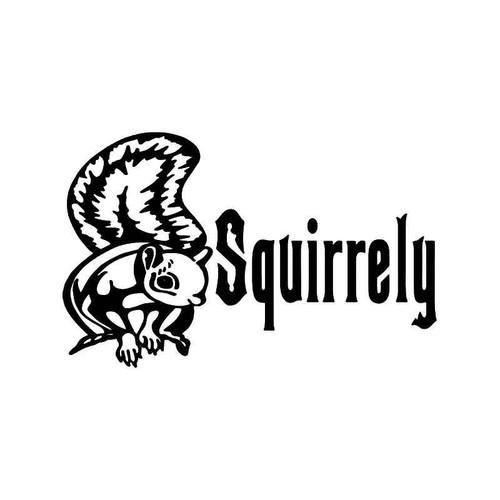 Squirrely Squirrel Hunting Vinyl Sticker