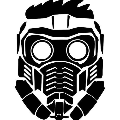 Star Lord Peter Quill Mask Vinyl Sticker