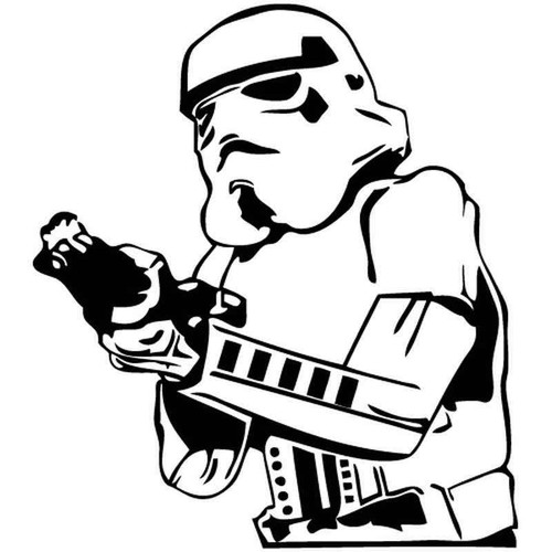 Star Wars Stormtrooper 710 Vinyl Sticker