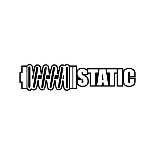 Static Shocks Lowered Jdm Japanese 1 Vinyl Sticker