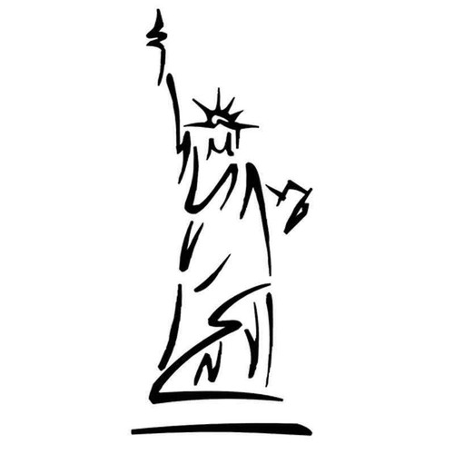 Statue Of Liberty 1077 Vinyl Sticker