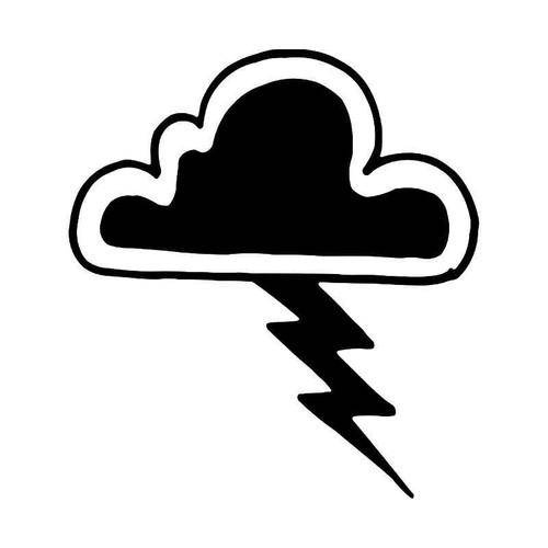 Storm Cloud Lightning Vinyl Sticker