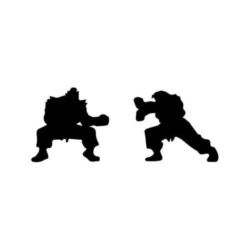 Street Fighter Akuma Ryu Gaming Vinyl Sticker
