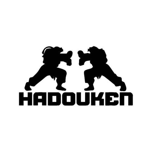 Street Fighter Hadouken Gaming Vinyl Sticker