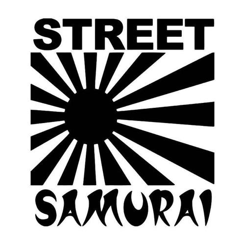 Street Samurai Rising Sun Jdm Japanese Vinyl Sticker