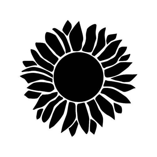 Sunflower Petal Flower Vinyl Sticker
