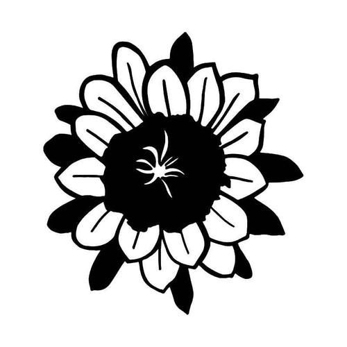 Sunflower Ying Yang Vinyl Sticker