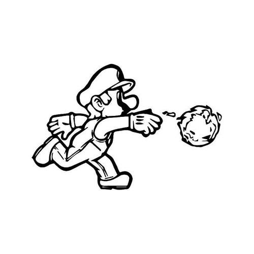 Super Mario Fireball Gaming Vinyl Sticker