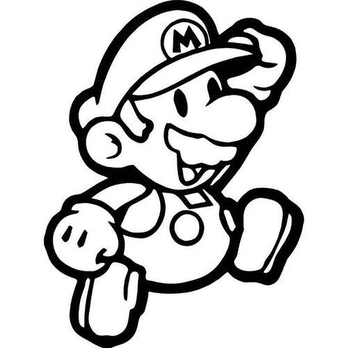 Super Mario Gaming 1 Vinyl Sticker