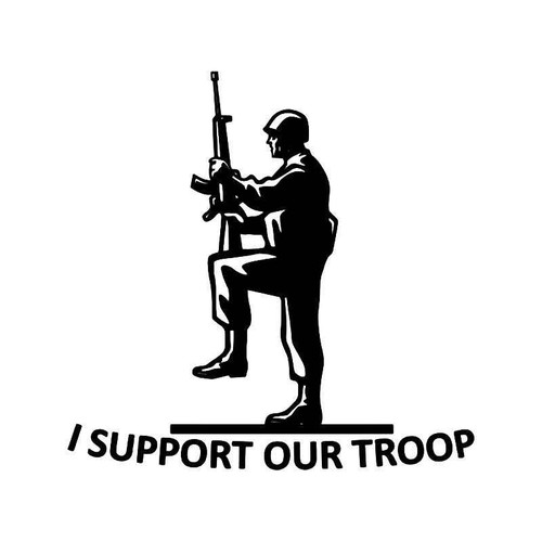 Support Our Troop Vinyl Sticker