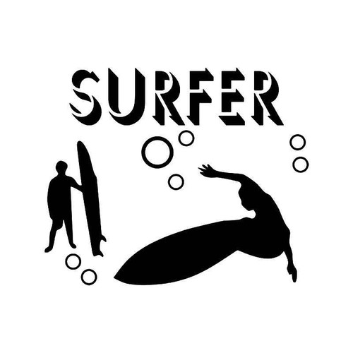 Surfer Surf Vinyl Sticker