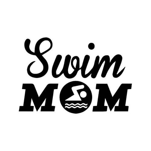 Swim Mom Vinyl Sticker