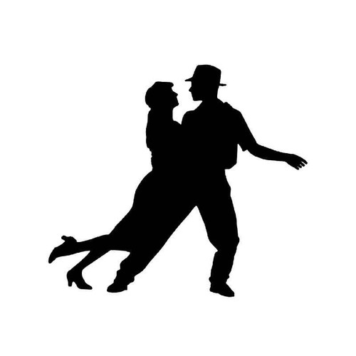Swing Dancing Vinyl Sticker