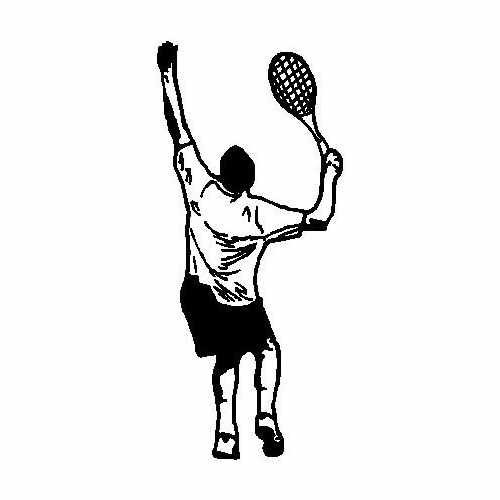 Sports Tennis  Vinyl Decal Sticker  Size option will determine the size from the longest side Industry standard high performance calendared vinyl film Cut from Oracle 651 2.5 mil Outdoor durability is 7 years Glossy surface finish