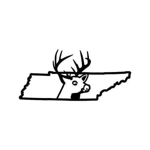 Tennessee State Deer Buck Hunting Vinyl Sticker