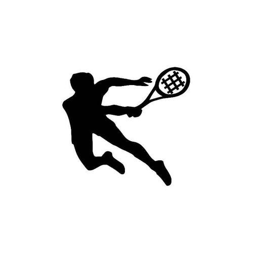 Tennis Player Vinyl Sticker